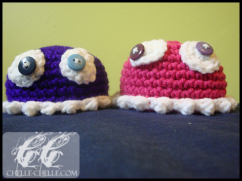 Chelle Chelle Crochet Knit Craft Blythe Monster Hat Free
